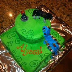 """Disney Brave cake - """"That is the perfect cake for me"""" says Lizzie. Must have a horse."""
