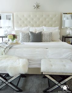 master-bedroom-with-gray-pillows-for-fall