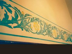Art Deco frieze, acrylic paint, in a hall, private client, Tourcoing.
