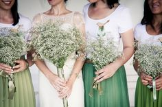 nice colours shell - Bridesmaids in Skirts - soft fabric with pleats | SouthBound Bride