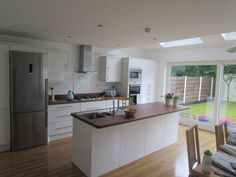 Completed Kitchen extension with a client brief to get more light into the room.