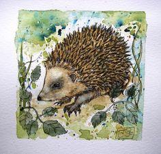 original watercolor hedgehog. £25.00, via Etsy.