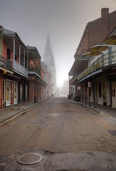 French Quarter | Flickr - Photo Sharing!  How did they get this shot...No one or nothing on the street??  Photoshop or luck: