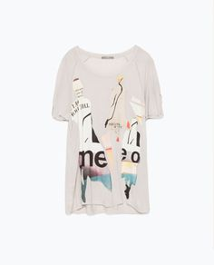Image 8 of SILHOUETTE PRINT T-SHIRT from Zara