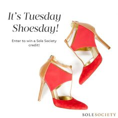 3/19/13 Enter to win a Sole Society credit! Repin this image and email Pinterest at SoleSociety dot com with a link to your repin by 3PM PST to be entered!
