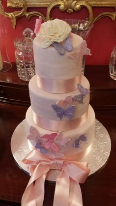 Lynleecakes' Butterfly cake for a baby girl shower!!!