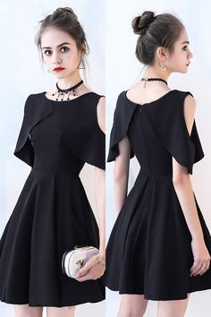 Little Black Chic Cold Shoulder Homecoming Dress with Sleeves,Short Prom Dress G.Little Black Chic Cold Shoulder Homecoming Dress with Sleeves,Short Prom Dress G.Home Wall Ideas Cheap Dresses, Sexy Dresses, Fashion Dresses, Short Dresses With Sleeves, Black Dress With Sleeves, Long Dresses, Simple Dresses, Formal Dresses, Casual Dresses