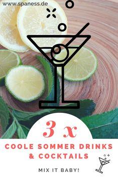 Genussreise: 3 Sommer Rezepte Cocktails 2018. Slow Food, Foodblogger, Travel News, Summertime, Pineapple, Fruit, Tableware, Summer Cocktails, Holiday Beach