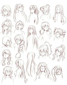 Art Reference Poses, Drawing Reference, Hair Reference, Female Reference, How To Draw Anime Hair, Anime Hair Male, How To Draw Manga, Learn To Draw Anime, Drawing Hair Tutorial