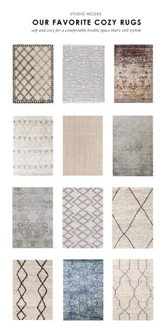 Ask Studio McGee: Our Favorite Cozy Rugs – rugcut Studio Mcgee, Living Room Area Rugs, Rugs In Living Room, Dining Room Rugs, La Jolla, Farmhouse Area Rugs, Ikea Rug, Pastel Room, Rug Studio