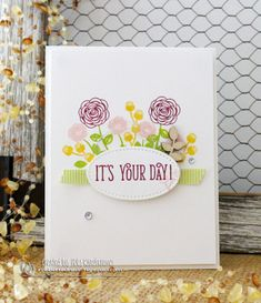 CAS flowers on white Happy Birthday Gorgeous, Stampin Up Catalog, Easter Weekend, Hello Gorgeous, Stamping Up, Stampin Up Cards, Card Ideas, Birthday Cards, Balloons