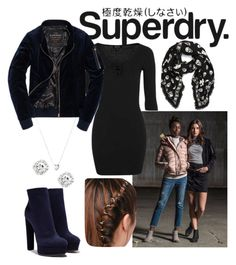 """The Cover Up – Jackets by Superdry: Contest Entry"" by tmorris-tm on Polyvore featuring Superdry, Topshop, Casadei, Alexander McQueen and Links of London"