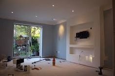 False Chimney Breast install in lounge for 55 inch TV - Joinery & Cabinet Making job in Bristol, Avon - MyBuilder Inset Fireplace, Wall Units With Fireplace, Living Room Decor Fireplace, Stone Fireplace Surround, Build A Fireplace, Fake Fireplace, Fireplace Ideas, Narrow Living Room, Living Room Tv
