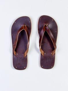 Waltzing Matilda Men's Nica Sandal, Dark Brown Chromexcel - Available from SEAWALL. #footwear #leather #summer #nattyguy