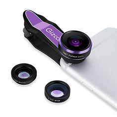 Nuova offerta in #elettronica : Gizcam Obiettivo del Telefono 3 in 1 Cell Phone Lens Kit 198 Gradi Obiettivo di Fisheye 0.63X Obiettivo Grandangolare e 15X più Lente Macro(viola) a soli 10 EUR. Affrettati! hai tempo solo fino a 2016-09-22 23:29:00