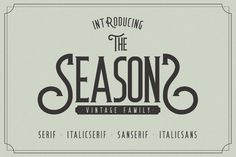 The Seasons by Paperwitch on @creativemarket