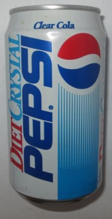 1992 - 12 ounce Diet Crystal Pepsi can
