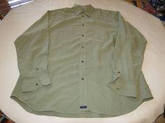 Mens Ted Baker London size 4 green long sleeve shirt Men's adult EUC @ #TedBaker #ButtonFront