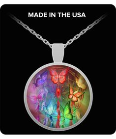 Rainbow Dreams round pendant necklace featuring the dreamcatcher art of Carol Cavalaris. Dreamcatcher Design, Dream Catcher Art, Round Pendant, Silver Rounds, Wearable Art, Original Art, Rainbow, Dreams, Pendant Necklace