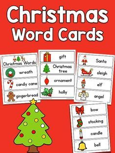 Weihnachtsbilder Word.Christmas Picture Word Cards Teacher Ideas Christmas Words