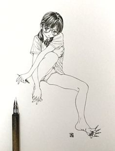 埋め込み Sketch Manga, Manga Drawing, Manga Art, Drawing Sketches, Manga Anime, Art Drawings, Anime Art, Figure Sketching, Figure Drawing