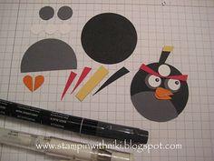 Stampin With Niki: Angry Birds Tutorial - Black Bird
