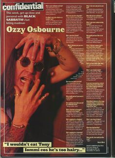 Prince Of Darkness, Ozzy Osbourne, Mad Men, Rock Music, Rock
