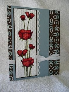 Monanasmiles - Mom's Poppies With Copic markers #1 by Monanasmiles - Cards and Paper Crafts at Splitcoaststampers