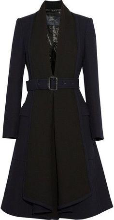 408b212df686a Blauer Woolcrepe-Mantel für Damen - Miranda Diebel -  blauer  Damen  Diebel
