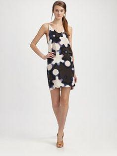 3.1 Phillip Lim  Silk Print Back Overlap Dress