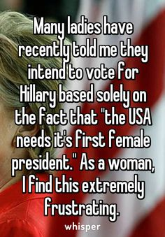 what do you think about Hilary Clinton?