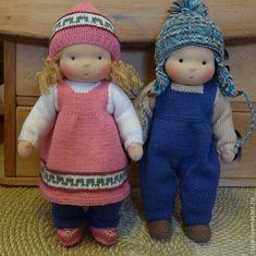 Waldorf куклы, мальчик и девочка:
