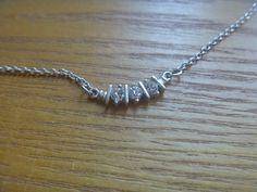 diamante pendant necklace, vintage rhinestone pendant on silver tone chain necklace Kids Rings, Small Rings, Vintage Rhinestone, Vintage Silver, Necklace Lengths, Beaded Bracelets, Pendants, Pendant Necklace, Magpie