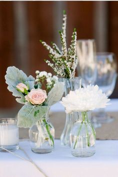 mixed wildflower wedding bud vases - Google Search