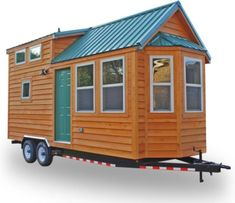 Shenandoah 160 Sq. Ft. Tiny House on Wheels Photo (I like this one. Changes: Stairs instead of ladder; two closets; heater in the middle instead of the end; higher ceiling in loft; second smaller loft.)