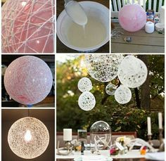 Materials needed ~Any kind of strings (your choice) ~Glue & Balloon