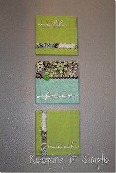 Keeping it Simple: Fabric covered canvases