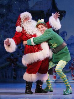 (L to R) Ken Clement and Daniel Patrick Smith from the Elf The Musical tour…