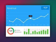 Flat UI Analytics Widget