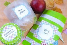 picnic-style foods  free label download: wrapped sandwich, chips in a bag + dessert in a jar cars-party-james-3rd-birthday