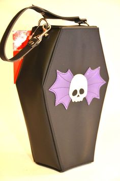 COFFIN SKULL WING BAG  BY ADDICTED PUNK GOTHIC ROCKABILLY TEEN #ADDICTED #handbags
