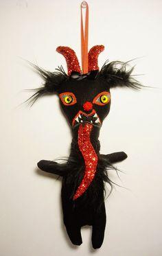 Junker Jane Art Dolls and Soft Sculptures: Krampus Miss Christmas Ornament