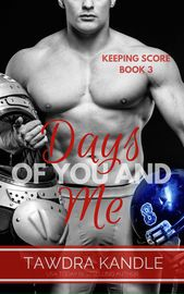 Days Of You And Me | http://paperloveanddreams.com/book/1100282117/days-of-you-and-me | Once upon a time, not that long ago, I had just about everything I ever wanted. I was a star football player at one of the best colleges in the country, and I had the girl I�d always loved by my side. The promise of a future most guys can only dream about was close enough to touch.But if there�s anything I�ve learned, it�s that life is unpredictable. One twist can change it all, and suddenly, I�m alone…