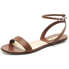 Michael Kors Flat Sandal (300 CAD) ❤ liked on Polyvore featuring shoes, sandals, flats, zapatos, обувь, ankle tie sandals, michael kors sandals, flat heel sandals, leather ankle strap sandals and leather flats