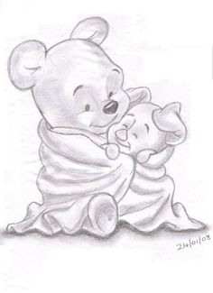 Sketches of Disney Characters | pencil sketches of disney characters_How to Draw Minnie Mouse, Step by ...