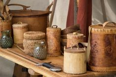 a variety of Viking Age tableware