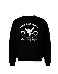 TooLoud Camp Half Blood Cabin 8 Artemis Adult Dark Sweatshirt
