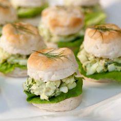 Tea Biscuits with Herbed Avocado-Egg Salad