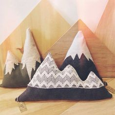 Handmade mountain pillows at Moss in Port Angeles, WA https://www.etsy.com/listing/174584719/cozy-pillows-inspired-by-the-olympic?