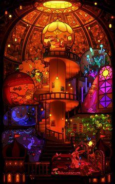 Eeveelution Palace ...  eevee, vaporeon, jolteon, flareon, umbreon, espeon, leafeon, sylveon, glaceon, pokemon